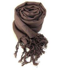 Idée cadeau accessoires de mode femme: Pashmina foulard étole écharpe - Marron
