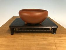 "Shohin Size Round Japanese Bonsai Tree Pot By Ittoen 3 3/4"""