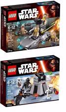 Lote de 2 Lego Star Wars 2016 paquetes de batalla 75131 75132 Totalmente Nuevo En Cajas