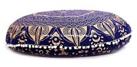 """Indian Ombre Mandala Floor Pillow Cover Round Cushion Pillows Cover Ottoman 32"""""""