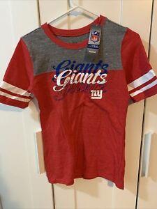 NY Giants Reebok Womens NFL Short Sleeve Authentic Apparel NWT Size Medium
