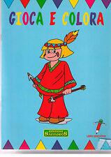 Gioca e colora. Indiano. Libro educativo- Salvadeos - Libro nuovo in Offerta!