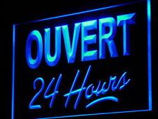 j173-b OUVERT 24 Hours Néon Enseigne Lumineuse