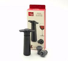 VacuVin Vakuum Weinpumpe mit 2 Stopfen in schwarz
