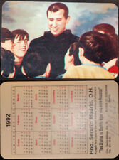 OLD PRIEST SERAFIN MADRID HOLY CARD CALENDAR YEAR 1992 TELEPHONE OF HOPE   CC579