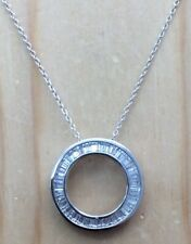 GORGEOUS DIAMONIQUE CIRCLE PENDANT NECKLACE