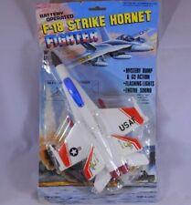 Battery Operated F-18 Strike Hornet Fighter Plane Lights & Sound