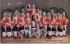GESCHICHTE HISTORY POSTKARTE CARD SCHÄFFLERTANZ MÜNCHEN 1914 - 1. WELTKRIEG