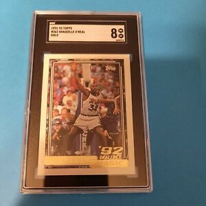1992-93 Topps Basketball #362 Shaquille O'Neal GOLD SGC 8