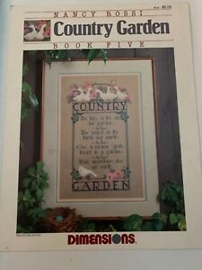 Nancy Rossi. Country Garden. Dimensions. Cross Stitch Vintage Pattern.