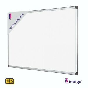 1200 x 900 Indigo White Board Magnetic Dry Wipe Notice Memo Home School NEXT DAY