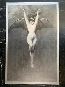 Albert Joseph Pénot The Bat Woman La Femme Chauve-Souris Print Silver Paper Rare