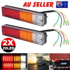 2X 20 LED Trailer Lights 12V Brake Reverse Tail Indicator Truck Caravan UTE Boat