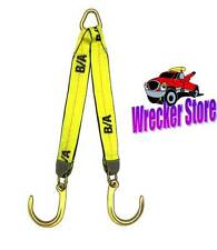 """G70 WRECKER TOW TRUCK V STRAP V BRIDLE J HOOK with EXTRA LONG 30"""" LEGS"""