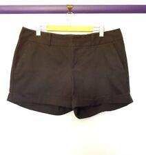 INC clothing womens size 16 black herringbone pattern short shorts