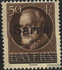 Saarland 25 gestempelt 1920 König Ludwig