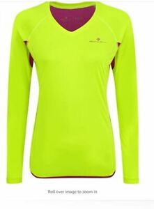 Ronhill Women's Vizion Long Sleeve Running Top (Seconds) UK 12 LN015 EE 02