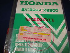 Shop Manual HONDA Stromerzeuger Generator EX1900 EX2200 neu OVP