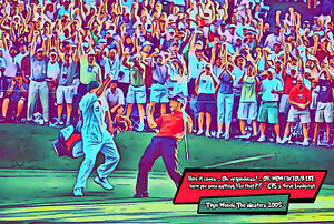 Tiger Woods - The Shot Masters'05 Comic Icons Art Print (Available In 4 Formats)
