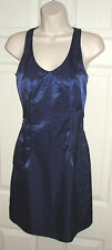 RICHARD CHAI SIZE 1 NAVY BLUE FITTED SEXY DRESS DATE NIGHT CLUB WEDDING GUEST