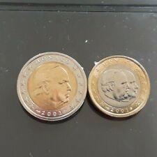 Monnaie lot 2 + 1 euro MONACO 2001 NEUVE NON CIRCULÉ. refA132