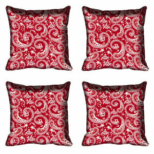 """Paisley Ethnic 4 Pc Pillow Cover Pink Living Room Polyester Cushion Case 12""""-24"""""""