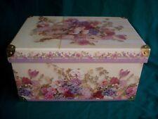 "New listing 15"" Tri Coastal Victorian Look Gift-Storage Box/ -Belts/Scarves/Purses/Orn aments"