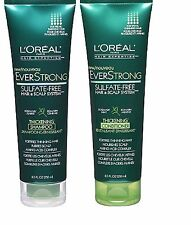2 L'Oreal EverStrong Sulfate-Free Thickening Shampoo & Conditioner 8.5FLOZ/250ML