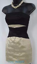 bebe Dress Cocktail Bodycon Sheath Sexy Strapless Bandage Wedding stretch SZ XXS