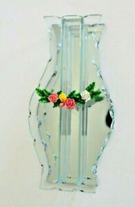 Mirror Glass Rose Bud Vase