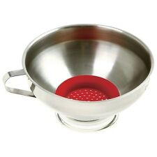 Norpro Wide Mouth Funnel Stainless Steel Silicone Strainer Canning Preserve 241