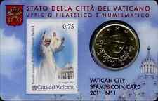 CITTà DEL VATICANO _ VATICAN CITY _ COIN CARD N° 1 _ 50 CENTESIMI EURO  2011