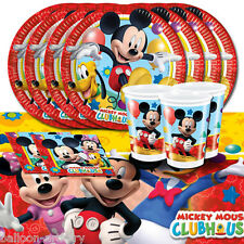 Disney Mickey Mouse Playful Children's Birthday Party Tableware Pack For 16