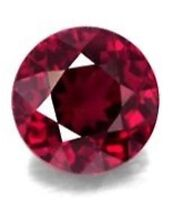 2mm ROUND NATURAL RED RUBY GEM GEMSTONE