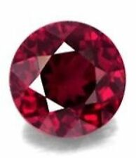 4mm ROUND NATURAL RED RUBY GEM GEMSTONE
