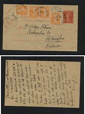 France  uprated postal card to Finland          H1218-15