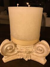 Beautiful Grecian Column Style Candle Holder & 3-Wick 6 Inch Candle Holder New!