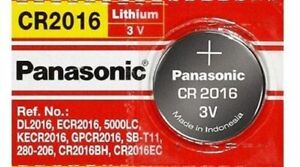 1 x PANASONIC CR 2016 CR2016 ECR2016 LITHIUM COIN CELL Button Battery Exp 2025