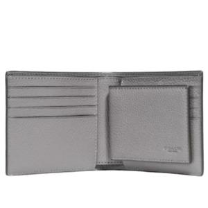 Coach 3-In-1 Removable ID Window Leather Men's Gray Billfold Wallet, 22815