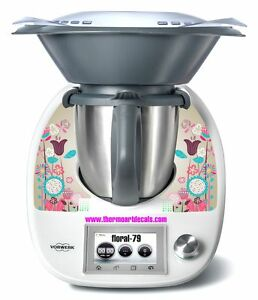 Thermomix TM5 Sticker Decal  (Code: Floral 79)