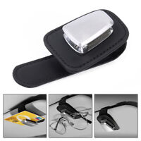 Universal Car Sun Visor Clip Holder Auto Sunglasses Glasses Card Tickets Storage