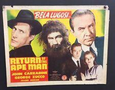 Return of the Ape Man Original Movie Poster 1943 Lugosi   *Hollywood Posters*
