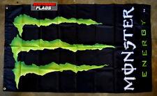Monster Flag Banner 3x5 ft Energy Drink Promo Advertising Black