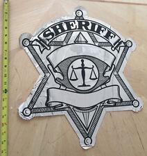 DEPUTY SHERIFF COP CAR POLICE DOOR DECAL SCALES OF JUSTICE *