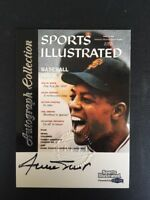 WILLIE MAYS autograph 1999 FLEER SPORTS ILLUSTRATED GREATS OF GAME GIANTS