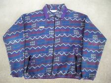 Vintage COLUMBIA Fleece Jacket Men's XLarge Vaporwave Indian Ski Aztec USA Made