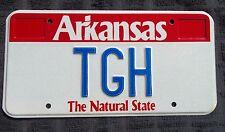 "ARKANSAS VANITY LICENSE PLATE "" TGH "" TED TIM TOM TONY HALL HART HARRIS HILL"
