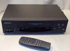 Daewoo Dv-T8Dn Vcr 4 Head HiFi Vhs Video Cassette Player Recorder Tested