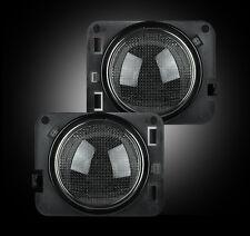 Recon Side Fender Lens w Amber LEDs - Smoked Jeep JK Wrangler 07-16 # 264135BK