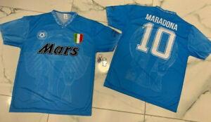 1 Trikot Fan Von Maradona Napoli Mars Replik El Pibe De Gold + Keyholder Diego